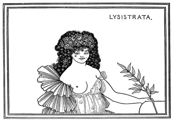 Olive Branch Drawing - Beardsley Lysistrata, 1896 by Granger
