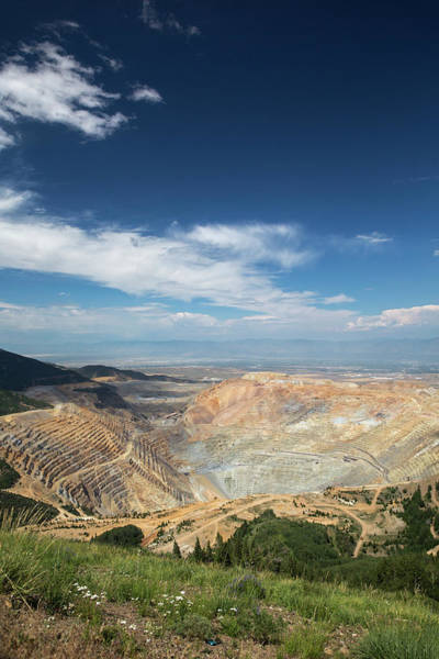 Copper Mountain Photograph - Bingham Canyon Copper Mine by Jim West