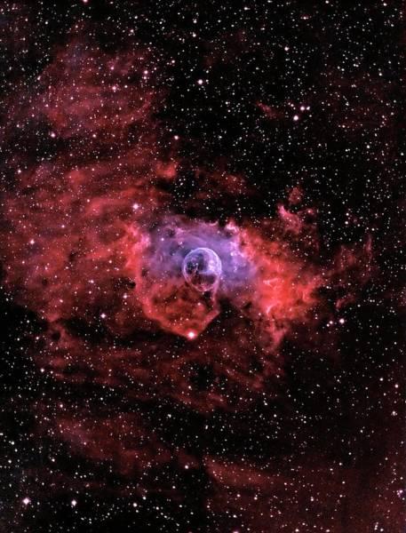 Wall Art - Photograph - Bubble Nebula by J-p Metsavainio/science Photo Library