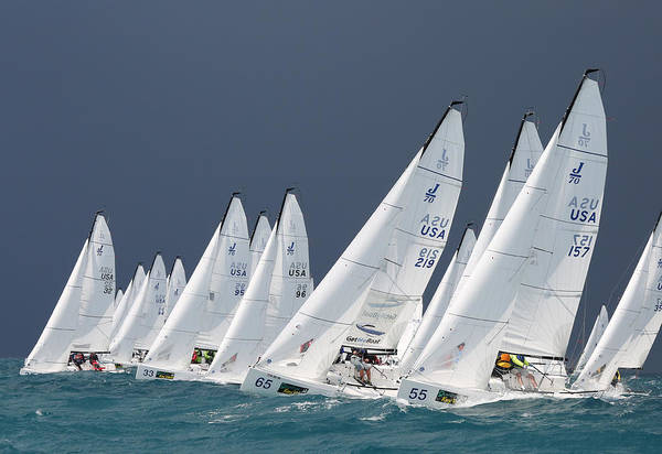 Photograph - Charging Upwind by Steven Lapkin