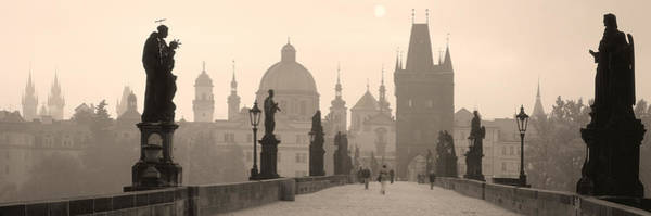 Span Wall Art - Photograph - Charles Bridge Prague Czech Republic by Panoramic Images