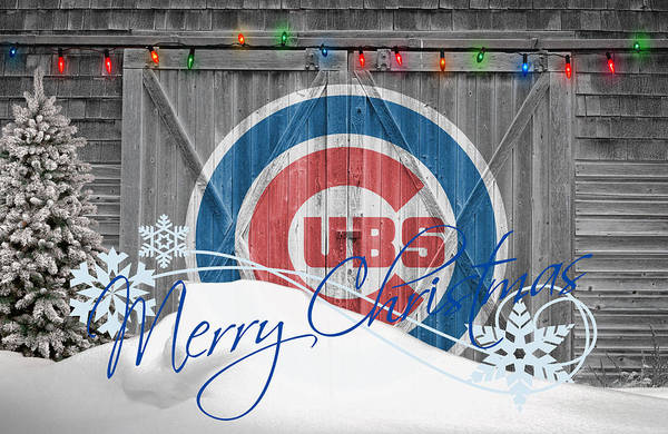 Santa Photograph - Chicago Cubs by Joe Hamilton