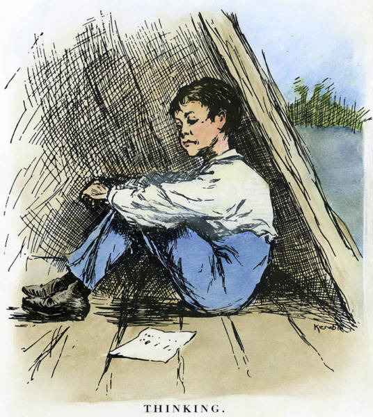 Drawing - Clemens Huck Finn, 1885 by Granger