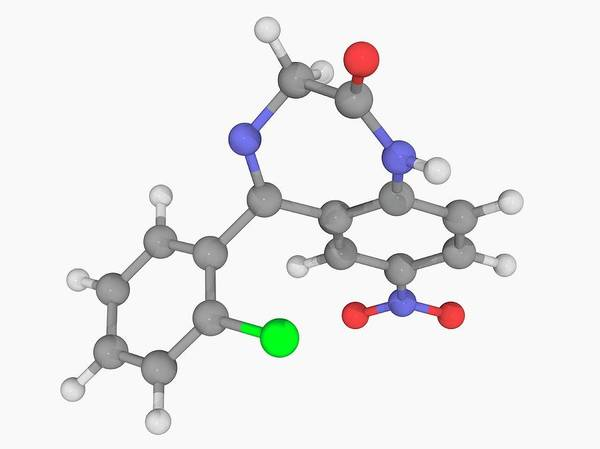Wall Art - Photograph - Clonazepam Drug Molecule by Laguna Design/science Photo Library