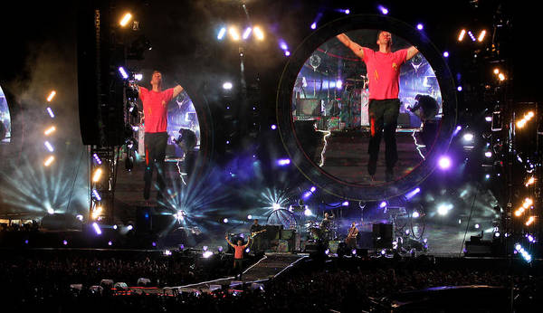 Photograph - Coldplay - Sydney 2012 by Chris Cousins