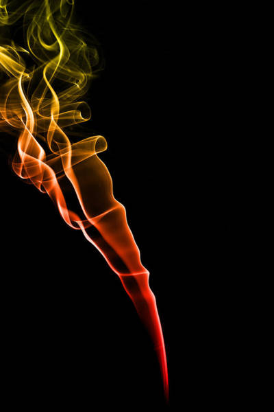 Abstract Smoke Photograph - Colourful Smoke by Samuel Whitton