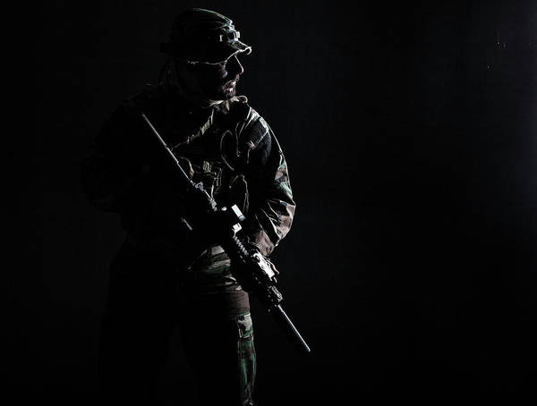 Wall Art - Photograph - Contour Shot Of U.s. Special Forces by Oleg Zabielin