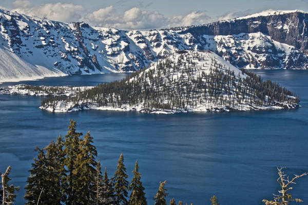 Photograph - Crater Lake Oregon by Steven Lapkin