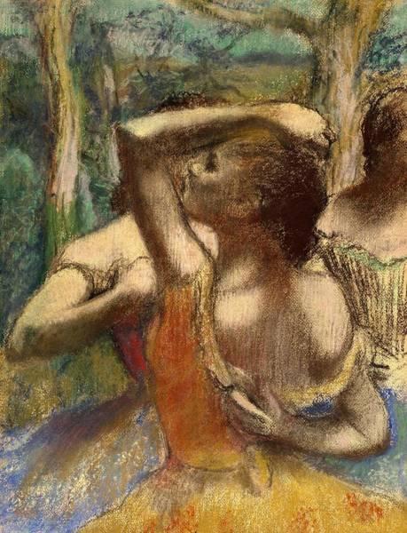 Warming Up Wall Art - Pastel - Dancers by Edgar Degas
