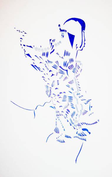 Dinka People Drawing - Dinka Corset - South Sudan by Gloria Ssali