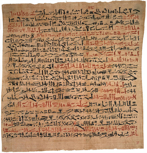 Hieroglyph Photograph - Edwin Smith Papyrus by National Library Of Medicine