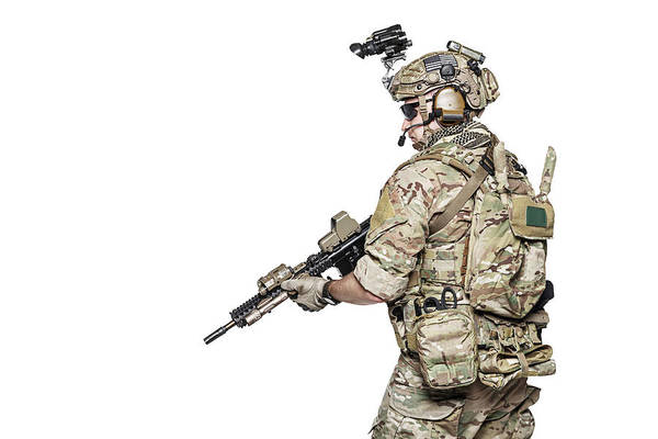 Wall Art - Photograph - Elite Member Of U.s. Army Rangers by Oleg Zabielin