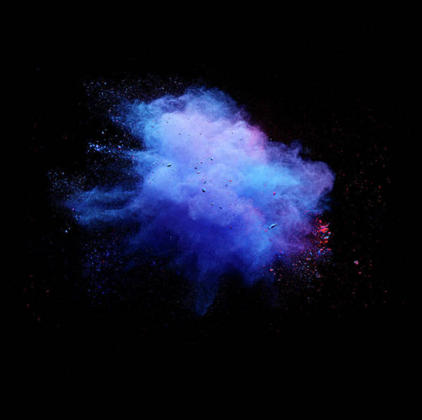 Photograph - Explosion Of Colored Powder by Henrik Sorensen