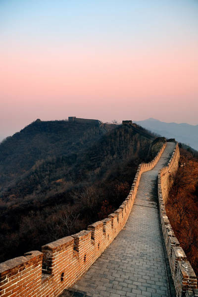 Photograph - Great Wall Sunset by Songquan Deng