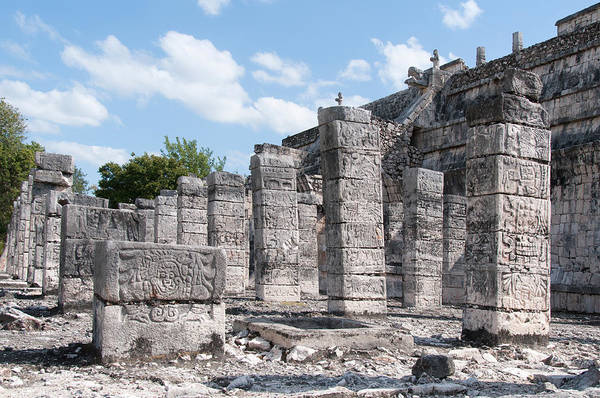 Chichen Digital Art - Group Of The Thousand Columns At Chichen Itza by Carol Ailles