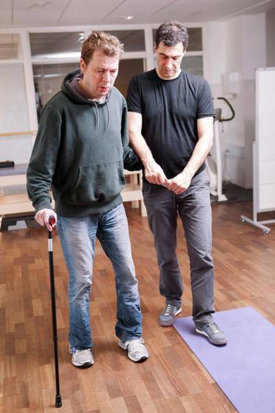 Therapist Photograph - Hemiplegic Stroke Physiotherapy by Thomas Fredberg
