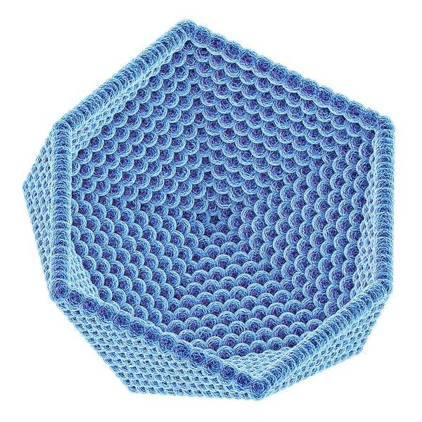Wall Art - Photograph - Icosahedral Virus Capsid by Alfred Pasieka/science Photo Library