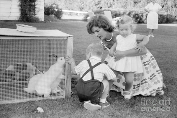 Hyannis Photograph - Jacqueline And Caroline Kennedy At Hyannis Port 1959 by The Harrington Collection
