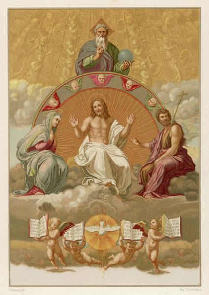 Holy Ghost Drawing - Jesus Of Nazareth (6 Bc-30 Ad) by Mary Evans Picture Library