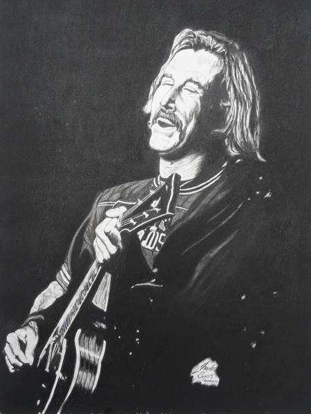 Wall Art - Drawing - Jimmy Buffet 1975 by Charles Rogers