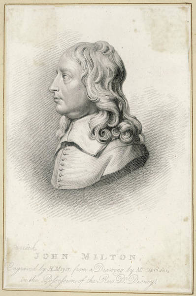 Wall Art - Drawing - John Milton  English Poet And Puritan by Mary Evans Picture Library