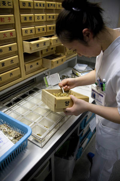 Drawers Photograph - Kampo Japanese Traditional Medicine by Andy Crump/science Photo Library
