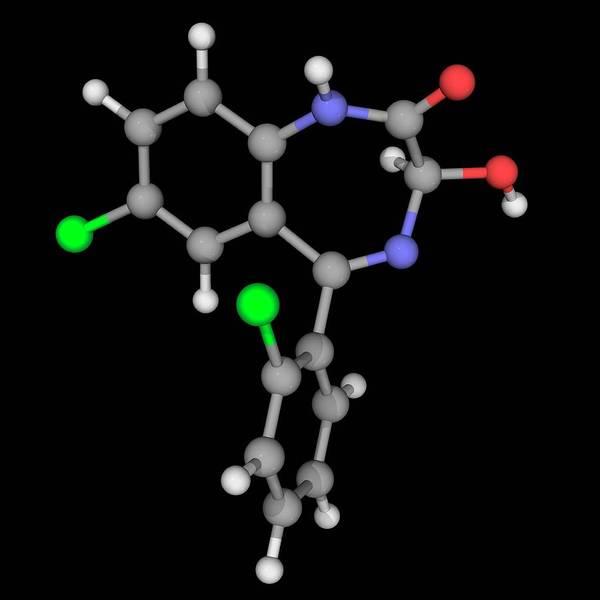 Wall Art - Photograph - Lorazepam Drug Molecule by Laguna Design/science Photo Library