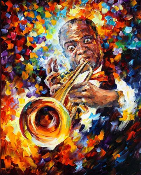 Magic Realism Painting - Louis Armstrong by Leonid Afremov