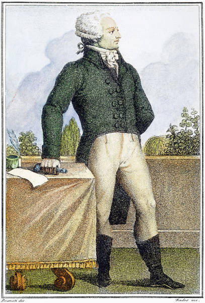 Inkwell Painting - Maximilien Robespierre (1758-1794) by Granger
