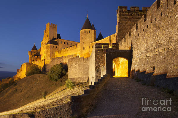 Village Gate Photograph - Medieval Carcassonne by Brian Jannsen