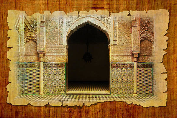 Medina Wall Art - Painting - Medina Of Faz by Catf