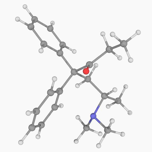 Wall Art - Photograph - Methadone Drug Molecule by Laguna Design/science Photo Library