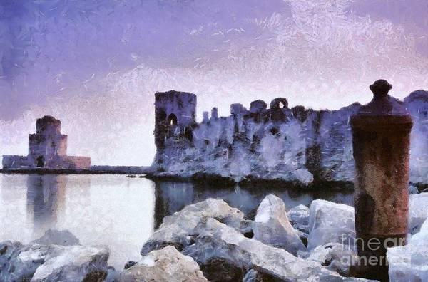 Peloponnese Painting - Methoni Castle by George Atsametakis