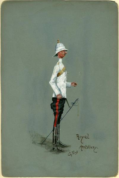 Royal Artillery Wall Art - Painting - Military Uniform Caricatures by Celestial Images