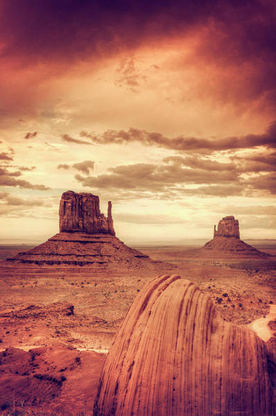 The Mitten Photograph - Monument Valley by Michele Falzone