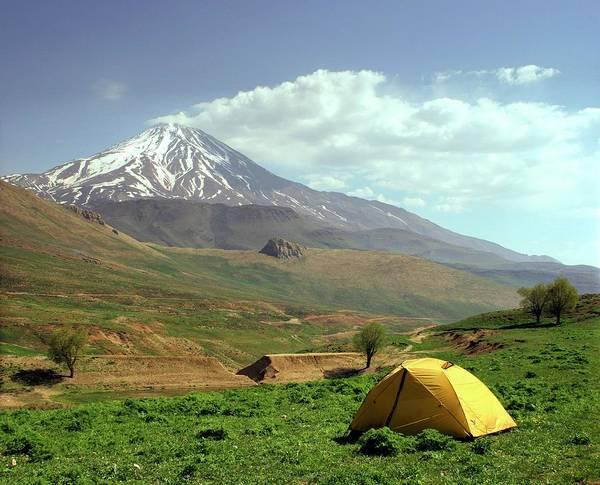 Active Volcano Photograph - Mount Damavand by Babak Tafreshi