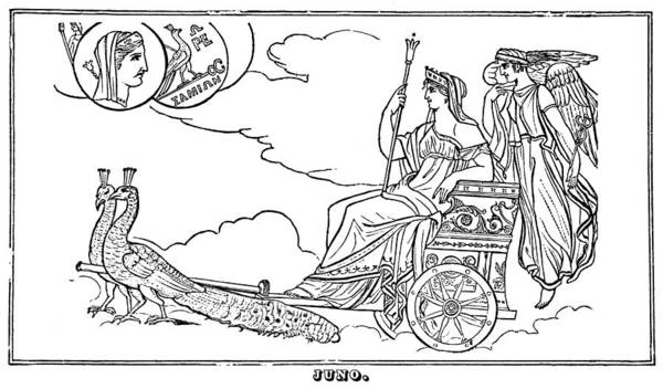 Wall Art - Painting - Mythology Hera/juno by Granger