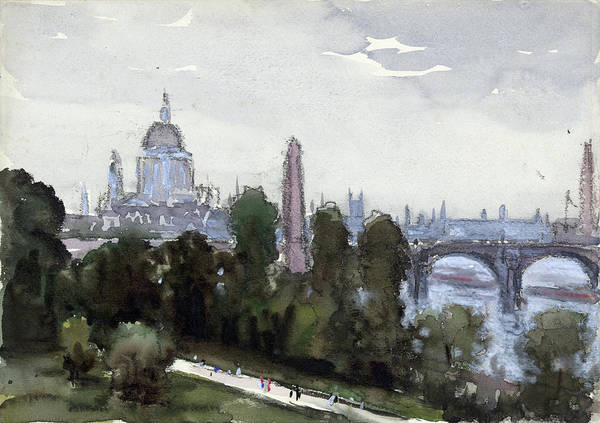 Early 20th Century Drawing - Pennell London, C1905 by Granger