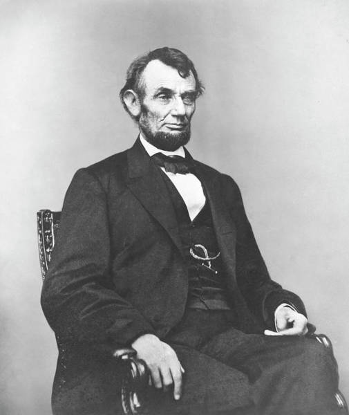 Abe Photograph - President Lincoln by War Is Hell Store