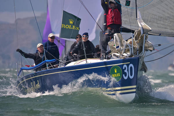 Racing Yacht Photograph - Racing Action by Steven Lapkin