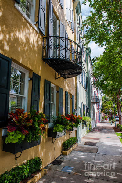 Photograph - Rainbow Row In Downtown Charleston by Dale Powell