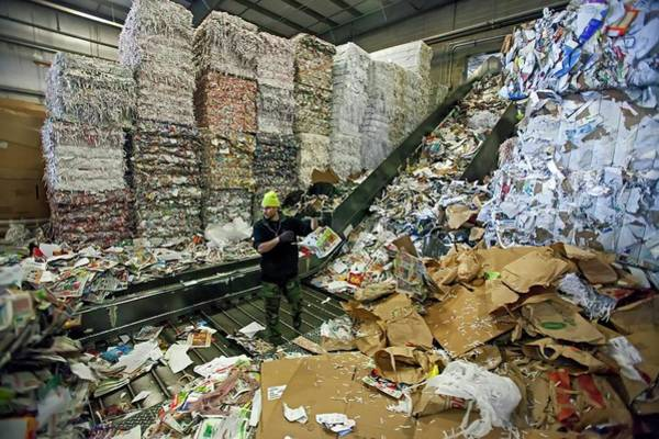 Royal Oak Photograph - Recycling Plant by Jim West