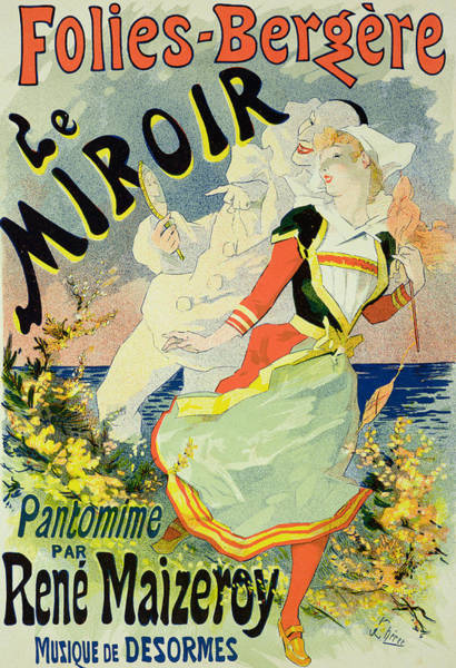 Backdrop Drawing - Reproduction Of A Poster Advertising by Jules Cheret