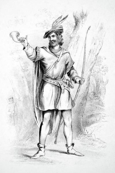 Bugling Drawing - Robin Hood by Granger