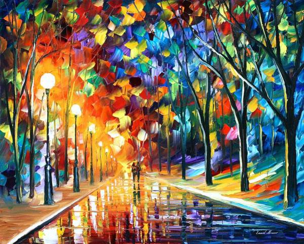 Wall Art - Painting - Romantic Evening by Leonid Afremov