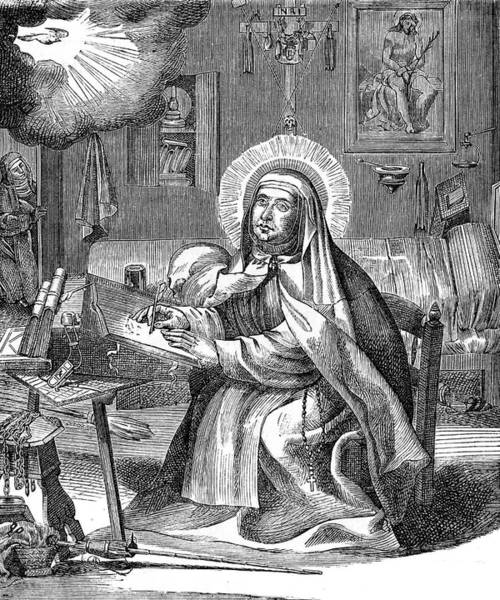 Holy Ghost Drawing - Saint Teresa Of Avila (1515-1582) by Mary Evans Picture Library