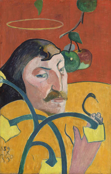 Wall Art - Painting - Self-portrait by Paul Gauguin