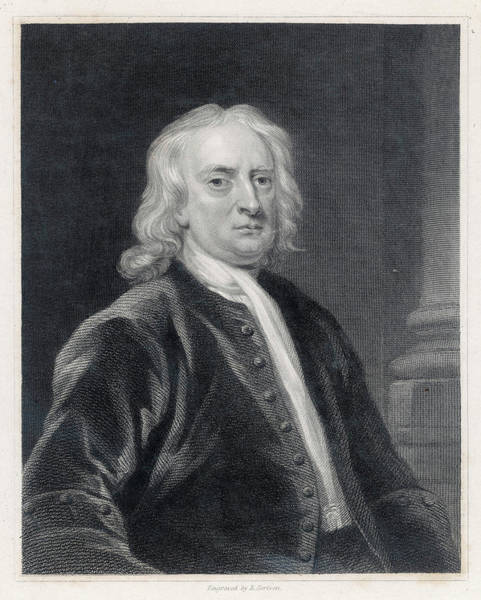 Wall Art - Drawing - Sir Isaac Newton (1642-1727), English by Mary Evans Picture Library