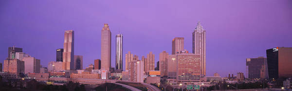 Fulton County Photograph - Skyscrapers In A City, Atlanta by Panoramic Images