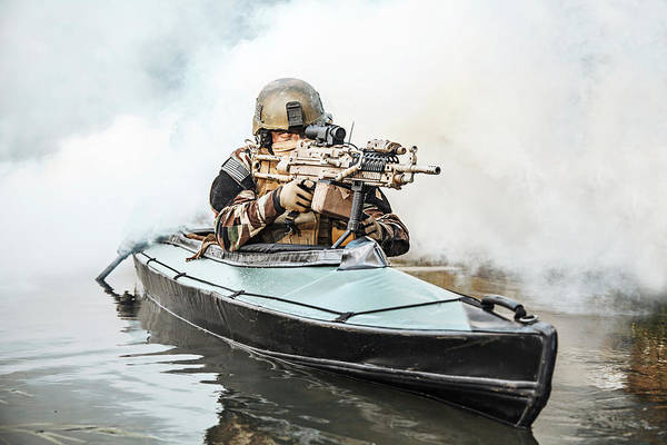Wall Art - Photograph - Special Forces Operator Armed by Oleg Zabielin
